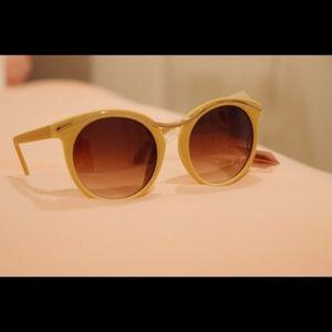 Accessories - Yellow Velvet Sunglasses